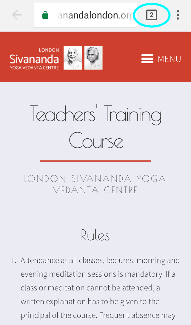 Tool Tip | Sivananda London | TTC Registration