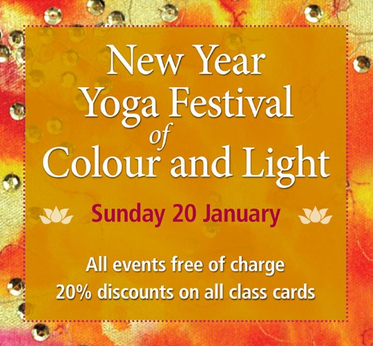"""<div style=""""line-height: 1.3; color: #ce402d; font-family: catamaran; """">New Year Yoga Festival</br>of Colour and Light</div>"""